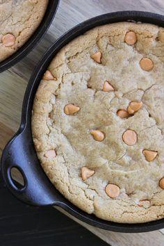Peanut Butter Butterscotch Skillet Cookies