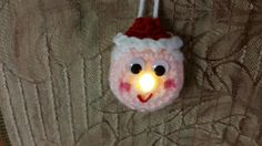 Lighted Mrs. Clause Ornament - Free Pattern