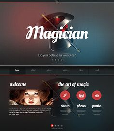 Personal Page Website Template #magician #html #javascript http://www.templatemonster.com/website-templates/45421.html?utm_source=Pinterest&utm_medium=timeline&utm_campaign=dfrty