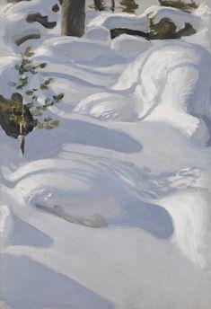 Akseli Gallen-Kallela: Päivänpaisteisia hankia, 1906. Ateneumin taidemuseo. Kuva: Kansallisgalleria / Hannu Aaltonen