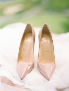 #Louboutin Love | #Pink #Shoes | Orchard Wedding from Ryan Ray Photography | Featured in the 2013 #SMP Fashion Mag | See More here -  http://www.stylemepretty.com/2013/12/05/orchard-wedding-from-ryan-ray-photography/