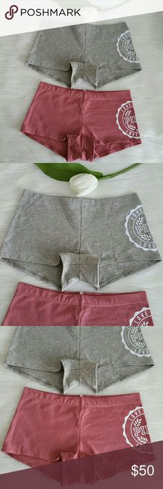 Beautiful Nwt 2 Pink Vs Low rise Boyshort  size M Brand new pink victoria's secret Low rise Boyshort  panty size M.  Smoke and pet free home.  Fast shipping + extra gift.  I don't trade love.  Available PINK Victoria's Secret Intimates & Sleepwear Panties
