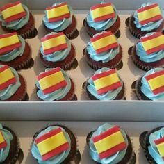 Spain Flag Cupcakes