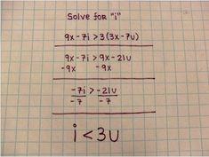 Just a little math among friends.