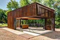 steel grate urban farming classroom by colorado building workshop