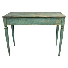 Italian Tall Painted Wood Console or Serving Table (1stdibs)
