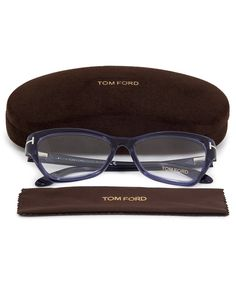 f3878cb25a4 Tom Ford Squared Butterfly Eyeglasses FT5376 090 54 Tom Ford