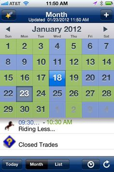 OurFamilyWizard new iPhone app - calendar monthly view