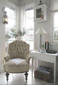 simple painted furniture and a few well placed accessories