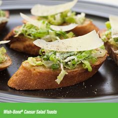 These bite-size appetizers transform Caesar salad into an easy-to-eat appetizer that's perfect for Thanksgiving Day entertaining.