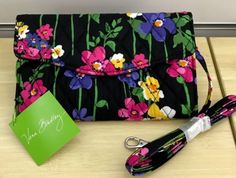 New Vera Bradley Strap Wallet in Wildflower Garden