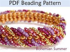 Bohemian Summer Ladder Stitch Beading Pattern - Media - Jewelry Making Daily