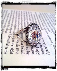 Gothic Jewelry Rings Swarovski Crystal Solitaire Ring Victorian by ApplebiteJewelry, Gothic Wedding Rings, Victorian Engagement Rings, Gothic Rings, Gothic Jewelry, Swarovski Ring, Swarovski Stones, Pretty Rings, Diamond Are A Girls Best Friend, Solitaire Ring
