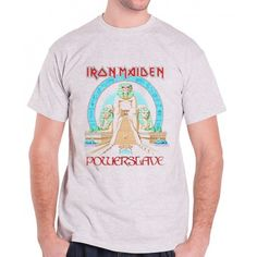 Tricou Iron Maiden: Powerslave Iron Maiden Powerslave, Metalhead, Mens Tops, T Shirt, Fashion, Supreme T Shirt, Moda, Tee Shirt, Fashion Styles