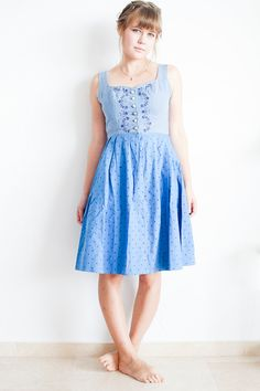 Vintage+Embroidery+Dirndl++Folk+Dress+Size+Small++by+MjauVintage