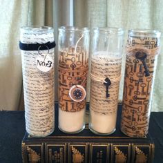Prayer candles - from $ store! Then decorate!