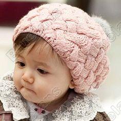 7981691edee Rabbit fur ball child hat ear protector cap beret baby hat parent-child cap  autumn and winter