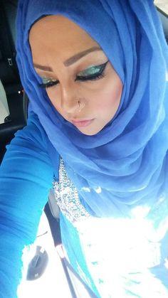 #blue #eyes #eyeshadow #eyeliner #lashes #aasiyamua #makeup #picoftheday #lipliner #lips #lipstick #gloss #mascara #kryolan #arabic #pakistani #beautiful