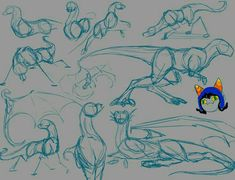 Dragon Poses by fangdracona on DeviantArt Animal Sketches, Animal Drawings, Art Sketches, Creature Concept Art, Creature Design, Art Reference Poses, Drawing Reference, Drawing Tips, Drawing Ideas