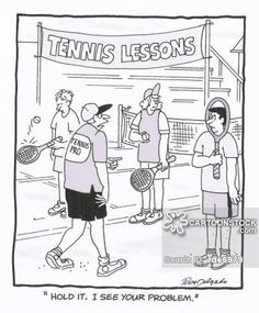 tennis instruction comic - Google Search