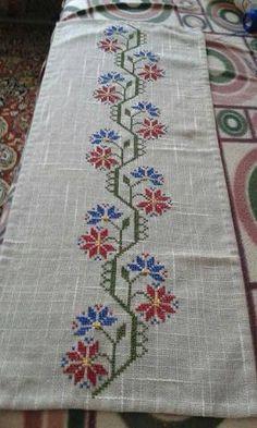 cross stitch runner pattern ile ilgili görsel sonucu