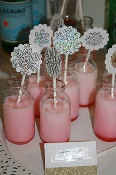 Project Nursery - Winter ONEderland Strawberry Milk