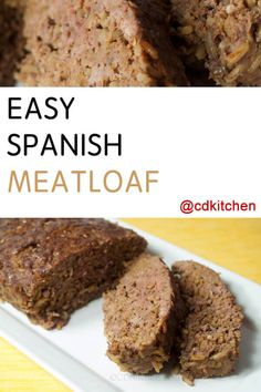 Easy Spanish Meatloaf - Need an easy dinner idea? This recipe has only three ing. Meatloaf Recipes, Beef Recipes, Easy Meatloaf, Hamburger Recipes, Meatloaf Burgers, Mexican Food Recipes, Dessert Recipes, Dinner Recipes, Hispanic Kitchen