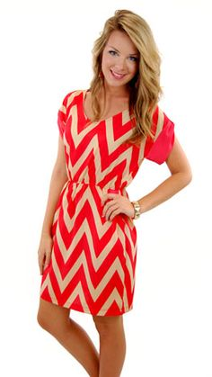 """""""Becca Chevron Dress"""" now available at www.shopbluedoor.com!"""