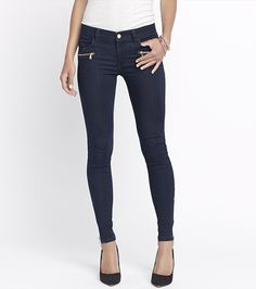 Fall Jean-Kate Deeply Blue Jegging With Zippers Dark Blue Jeans, Black Jeans, Fall Jeans, Well Dressed, Fashion Addict, Jeggings, Fall Outfits, Style Me, Winter Fashion