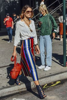 September 13, 2016  Tags Prada, Sunglasses, Red, White, Blue, Stripes, Women, High Heels, Bags, Skirts, Blouses, Necklaces, New York, Tory Burch, Sofia Sanchez de Betak, 1 Person, SS17 Women's, Joie