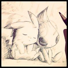 Pikachu & Celebi <3