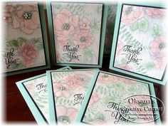 Oksana's Creative Corner: Stampin Up Timeless Elegance Quick Thank You Cards