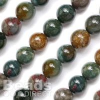 India agate semi-precious beads gem round 16mm. 8