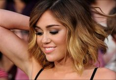 Miley Cyrus's medium wavy ombre hair - if only I could get my hair to hold a curl...