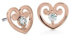 Roses for Valentine's Day? How About Rose Gold | hearts on fire diamond earrings, 18K rose gold   www.singingjeweler.com