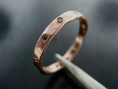Morava Wedding Ring- Rose Gold & Chocolate Diamonds