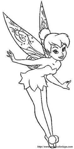 Ausmalbilder Tinkerbell Disney Coloring Pages Coloriage
