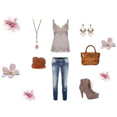 Romance in bloom, created by stephanie-pettitt-michelli on Polyvore