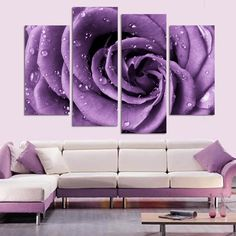 Unframed 4 Pcs Modern Picture Purple Lover Flower Big Perfect Canvas Wall Art on Canvas Large HD Home Decor Cuadros Painting-in Painting & Calligraphy from Home & Garden on Aliexpress.com | Alibaba Group