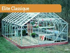 """12ft5"""" wide in multiple lengths. The Classique is a professional growers choice, and offers an enormous growing area. Double doors, a choice of powder coated finishes and a superb range of accessories."""