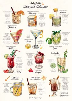 #Cocktail Calendar by #OurVodka via #OurBerlin | #vodka #Wodka #drinks