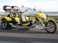 See Cape Town and surrounds by Motor Trike - Goldwing Trike, Vw Trike, Custom Motorcycle Paint Jobs, Custom Sport Bikes, Choppers, Trike Motorcycles, 3 Wheel Motorcycle, Motos Harley, Custom Trikes