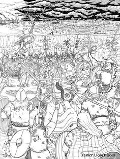 Orlanthi battle against Lunar troops on a ford by Pecadordelapradera on DeviantArt