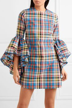 Find and compare Janis ruffled frayed plaid poplin mini dress across the world's largest fashion stores! African Print Fashion, African Fashion Dresses, African Dress, Fashion Outfits, Fashion Hacks, Stylish Dresses, Cute Dresses, Casual Dresses, Short Dresses