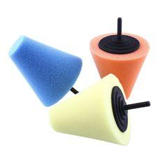 Burnishing car Automotive Foam Sponge Polishing Cone Shaped Buffing Pads For Car Wheel Hub Care  Metal Pad Soft Type