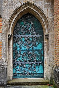 Gothic Door With Iron Mounting At The Neo-Gothic St. Ottilien Archabbey,near Landsberg,Bavaria,Germany,Europe Stock Photos / Pictures / Photography / Royalty Free Images at Inmagine