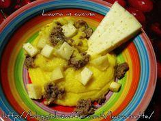 Polenta con toma di Lanzo ,ricetta piemontese