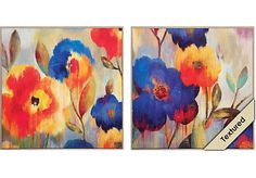 Shop for a Ikat Florals Set of 2 Artwork at Rooms To Go. Find Wall Decor that will look great in your home and complement the rest of your furniture.