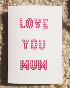 Gocco print Mothers Day Card by teaandtotes on Etsy
