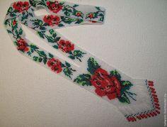 """Колье, бусы ручной работы. Ярмарка Мастеров - ручная работа Гердан """"Красные розы"""". Handmade."""